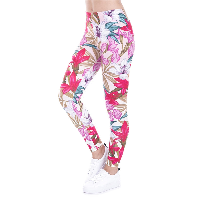 Paradise Flowers Regular Leggings