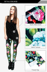 Flowers And Birds Regular Leggings-Wholesale Women's Leggings, Wholesale Plus Size , Wholesale Fashion Clothing
