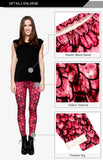 Dragon Red Regular Leggings-Wholesale Women's Leggings, Wholesale Plus Size , Wholesale Fashion Clothing