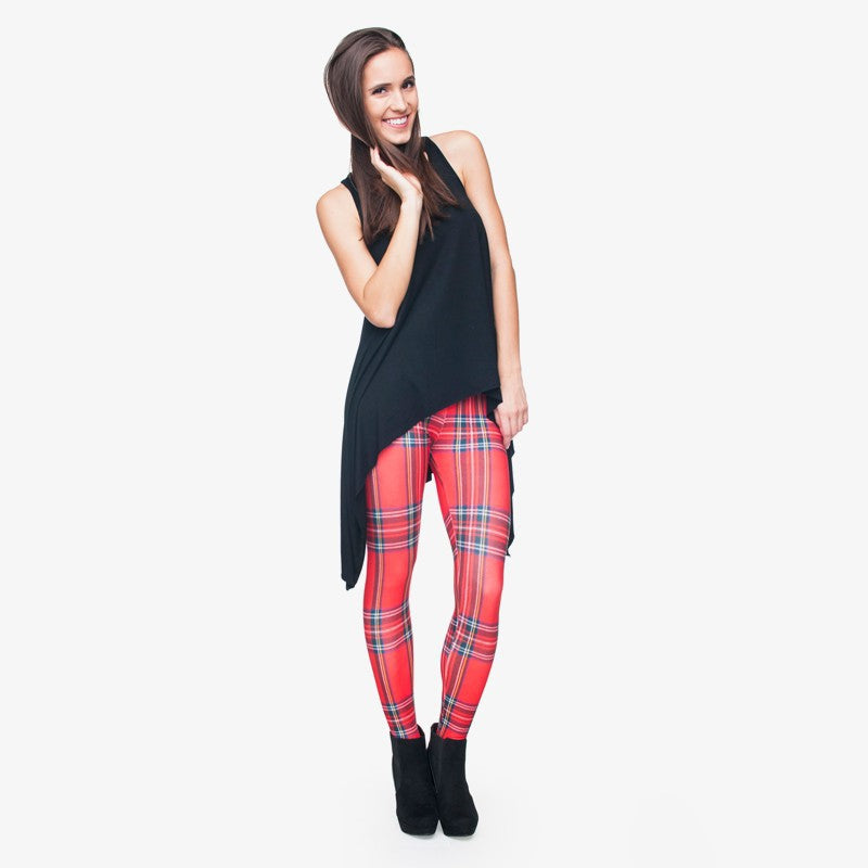 Krate Red Regular Leggings