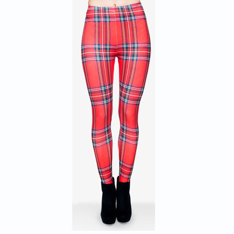 Krate Red Regular Leggings-Wholesale Leggings UK- Wholesale Women's Clothing- Kukubird Creative Studio