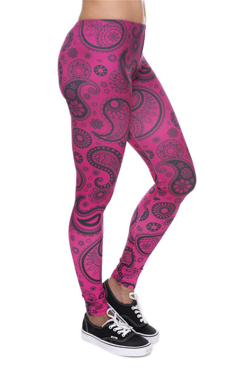 Banana Paisley Pink Regular Leggings