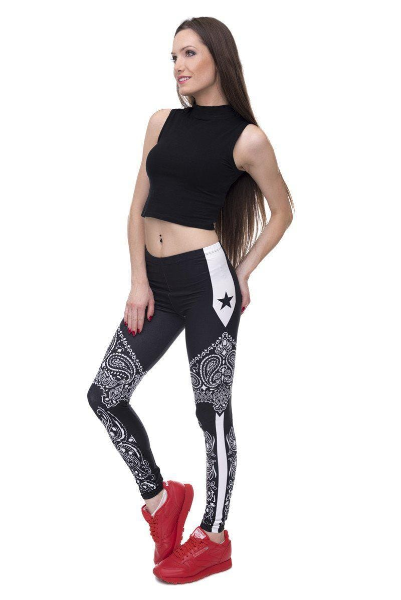 Bandanna Stars Regular Leggings-Wholesale Leggings UK- Wholesale Women's Clothing- Kukubird Creative Studio
