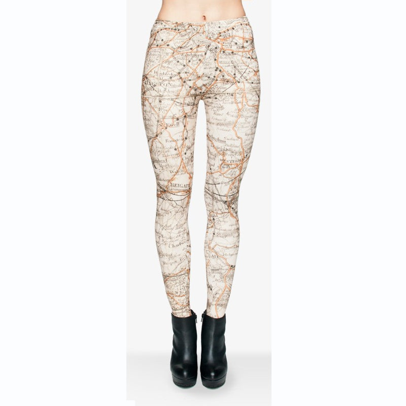 London Regular Leggings-Wholesale Leggings UK- Wholesale Women's Clothing- Kukubird Creative Studio
