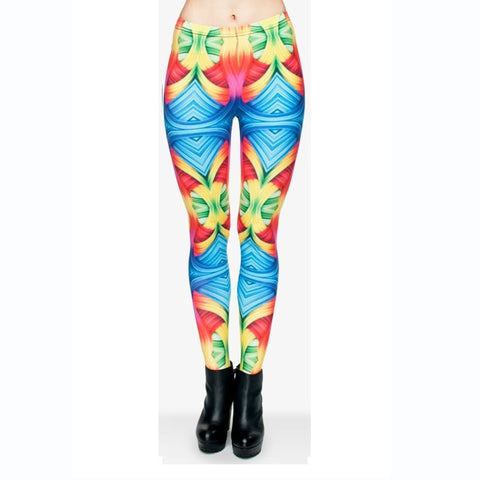 Abstract Color Regular Leggings