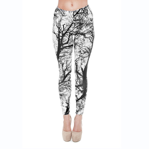 Trees Regular Leggings-Wholesale Women's Leggings, Wholesale Plus Size , Wholesale Fashion Clothing
