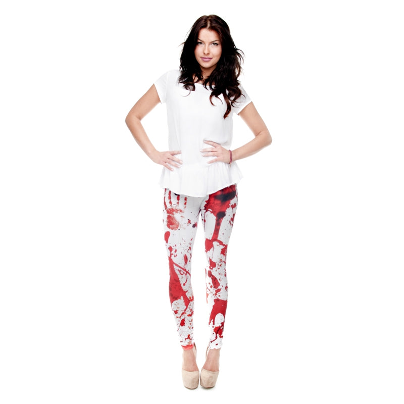 Blood Regular Leggings-Wholesale Leggings UK- Wholesale Women's Clothing- Kukubird Creative Studio