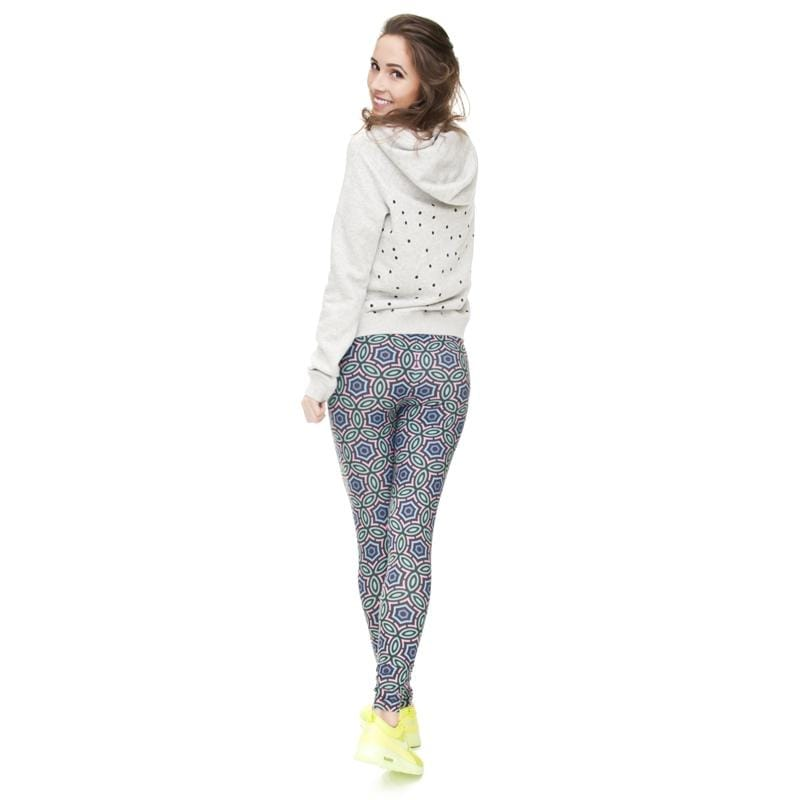 Arabesque Regular Leggings-Kukubird Creative Studio