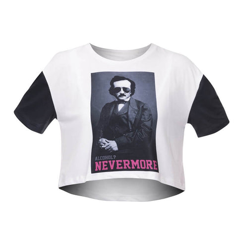 Alcohol Nevermore Crop T-shirt