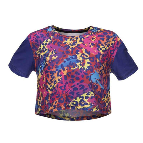 Animal Color Crop T-shirt