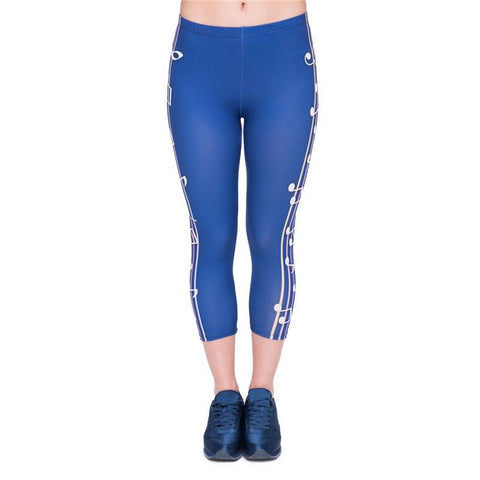 Colour Music Capri Leggings-Wholesale Women's Leggings, Wholesale Plus Size , Wholesale Fashion Clothing