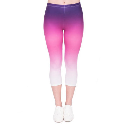 Ombre Purple Capri Leggings-Wholesale Leggings UK- Wholesale Women's Clothing- Kukubird Creative Studio
