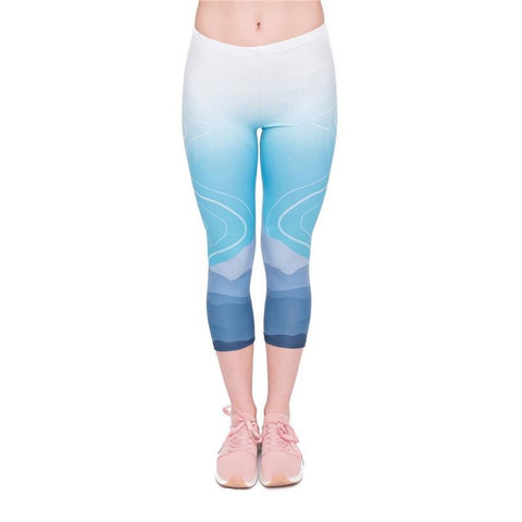 Wild Mountain Capri Leggings-Wholesale Leggings UK- Wholesale Women's Clothing- Kukubird Creative Studio