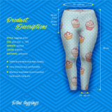 Muffin Dots Plus Leggings-Wholesale Women's Leggings, Wholesale Plus Size , Wholesale Fashion Clothing
