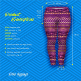Boho Purple Plus Leggings-Wholesale Women's Leggings, Wholesale Plus Size , Wholesale Fashion Clothing