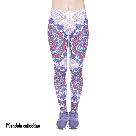 Mandala Red Regular Leggings-Wholesale Women's Leggings, Wholesale Plus Size , Wholesale Fashion Clothing