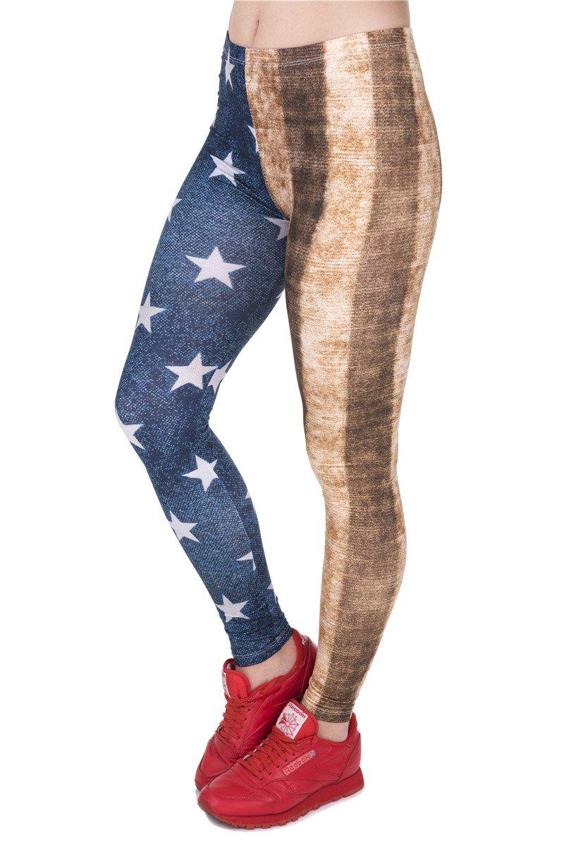 Dirty USA Flag Regular Leggings