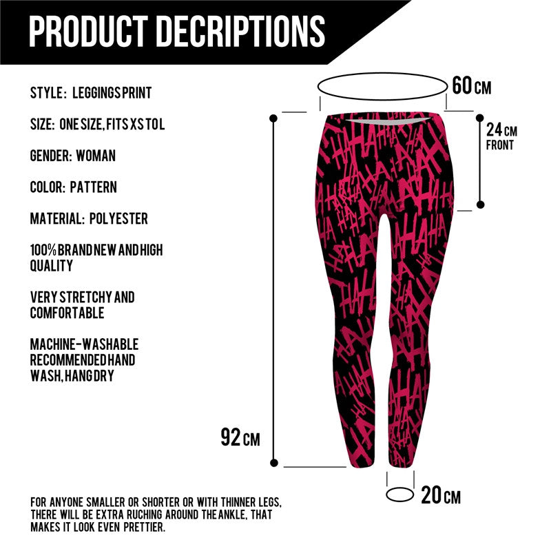 HAHAHA Regular Leggings-Wholesale Leggings UK- Wholesale Women's Clothing- Kukubird Creative Studio