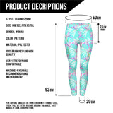 Blue leaves Regular Leggings.-Wholesale Women's Leggings, Wholesale Plus Size , Wholesale Fashion Clothing