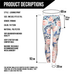 Light Pink Roses with Butterflies Regular Leggings-Wholesale Women's Leggings, Wholesale Plus Size , Wholesale Fashion Clothing