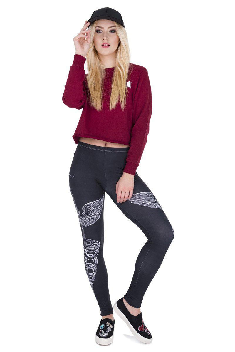 Sword Regular Leggings-Kukubird Creative Studio