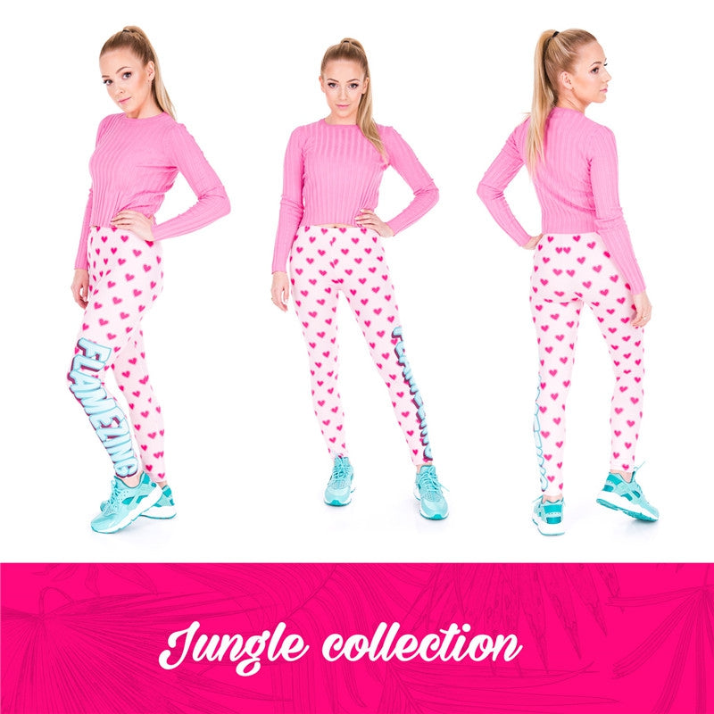 Flamezing Hearts Regular Leggings