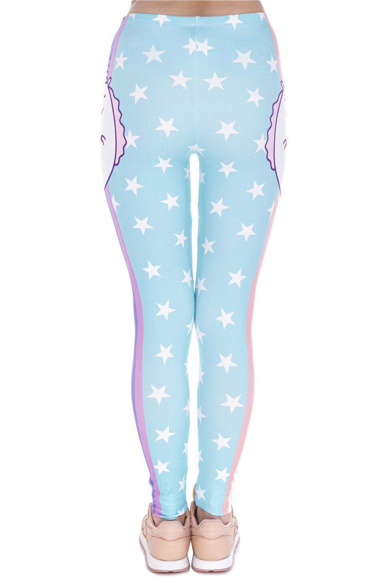 Unicorn And Stars Regular Leggings.
