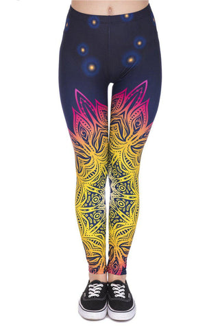 Mandala Light Regular Leggings-Wholesale Women's Leggings, Wholesale Plus Size , Wholesale Fashion Clothing