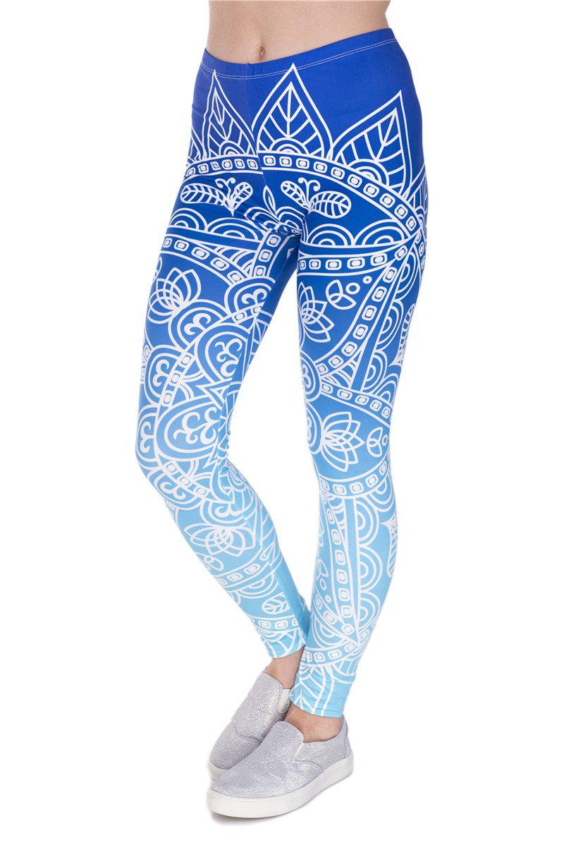 Mndalaombre Blue Regular Leggings