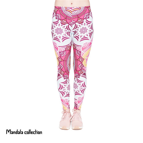 Mandala Mint Regular Leggings-Wholesale Women's Leggings, Wholesale Plus Size , Wholesale Fashion Clothing
