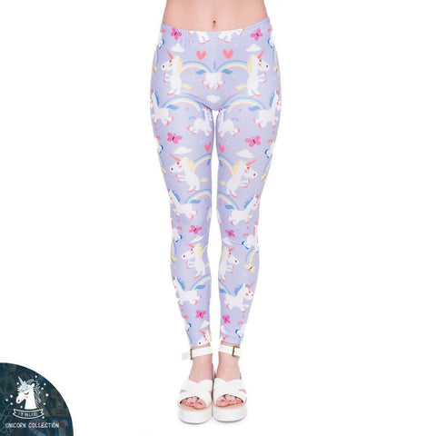 Unicorns and butterfly Regular Leggings-Wholesale Women's Leggings, Wholesale Plus Size , Wholesale Fashion Clothing