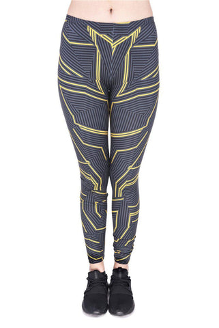 Orange strips Regular Leggings-Wholesale Women's Leggings, Wholesale Plus Size , Wholesale Fashion Clothing