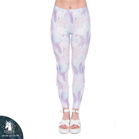 Multicolor set unicorns Regular Leggings-Wholesale Women's Leggings, Wholesale Plus Size , Wholesale Fashion Clothing