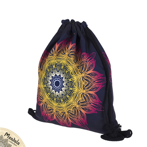 Mandala Lights DrawString Bags-Wholesale Women's Leggings, Wholesale Plus Size , Wholesale Fashion Clothing