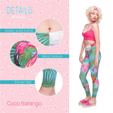 Coco Flamingo Regular Leggings-Wholesale Leggings UK- Wholesale Women's Clothing- Kukubird Creative Studio