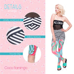 Flamingo palm leaves Regular Leggings.-Wholesale Women's Leggings, Wholesale Plus Size , Wholesale Fashion Clothing