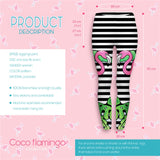 Tropical flamingo Regular Leggings.-Wholesale Women's Leggings, Wholesale Plus Size , Wholesale Fashion Clothing