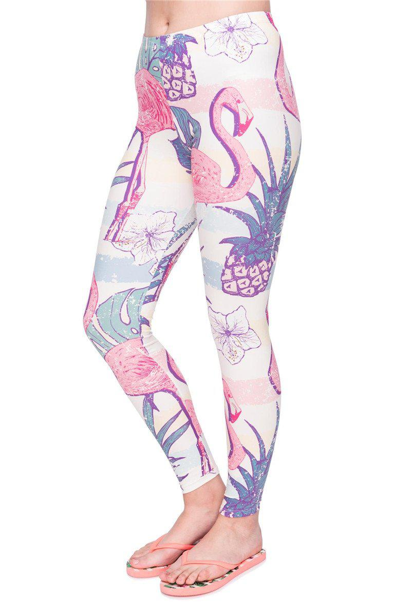 Retro Shirt Flamingo Regular Leggings