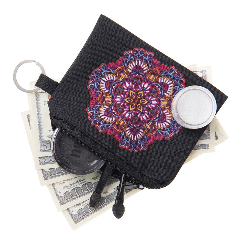 Mandala White and Pink Coin Purses