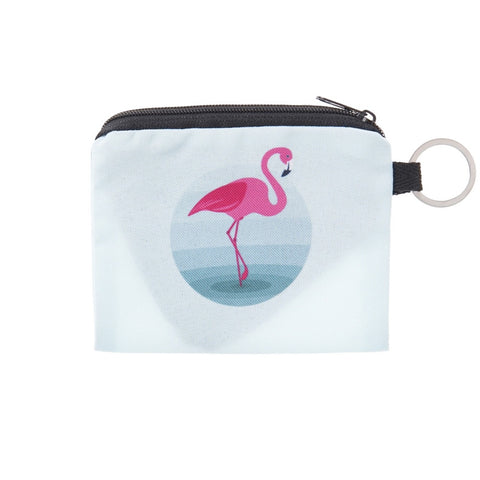 Waterhole Flamingo Coin Purses-Wholesale Women's Leggings, Wholesale Plus Size , Wholesale Fashion Clothing