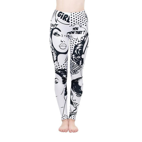 Comic girls Regular Leggings.-Wholesale Women's Leggings, Wholesale Plus Size , Wholesale Fashion Clothing