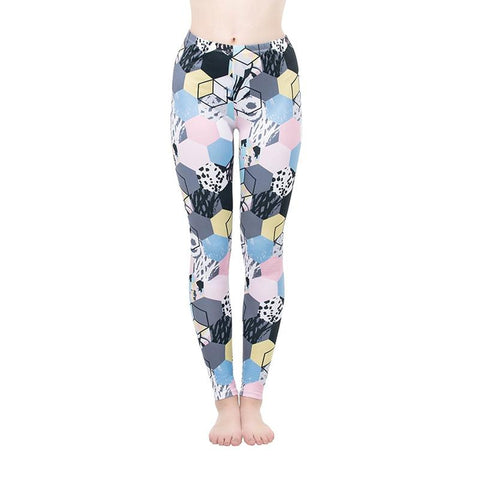 Color Cube Regular Leggings-Wholesale Women's Leggings, Wholesale Plus Size , Wholesale Fashion Clothing