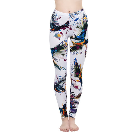 Color Birds Regular Leggings-Wholesale Women's Leggings, Wholesale Plus Size , Wholesale Fashion Clothing