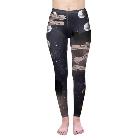 Magic Cats Regular Leggings-Wholesale Women's Leggings, Wholesale Plus Size , Wholesale Fashion Clothing