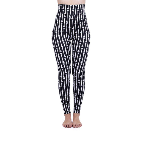 Stripey Bones High Waisted Leggings-Wholesale Leggings UK- Wholesale Women's Clothing- Kukubird Creative Studio