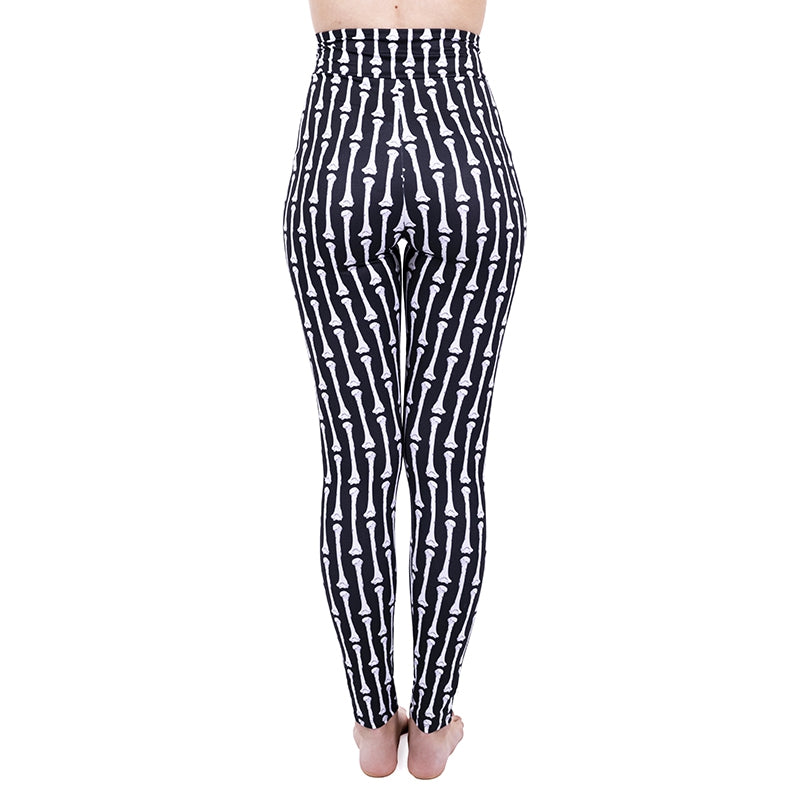Stripey Bones High Waisted Leggings
