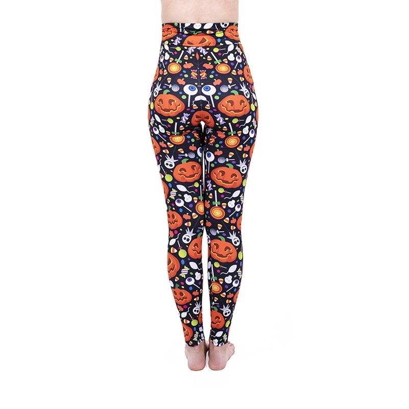 Happy Pumpkin High Waisted Leggings