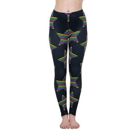 Colour Stars Regular Leggings-Wholesale Women's Leggings, Wholesale Plus Size , Wholesale Fashion Clothing