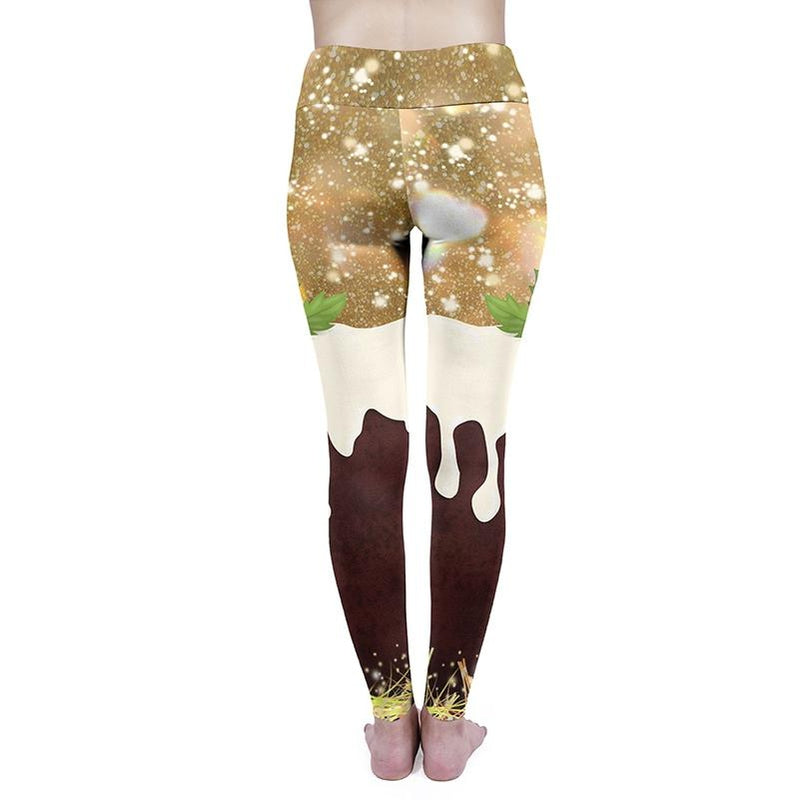 Christmas Pudding High Waisted Leggings