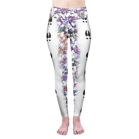 Follow On Rudolf High Waisted Leggings-Wholesale Leggings UK- Wholesale Women's Clothing- Kukubird Creative Studio